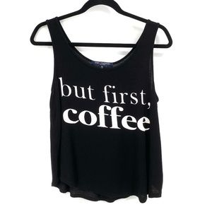 One Clothing but first coffee tank top M